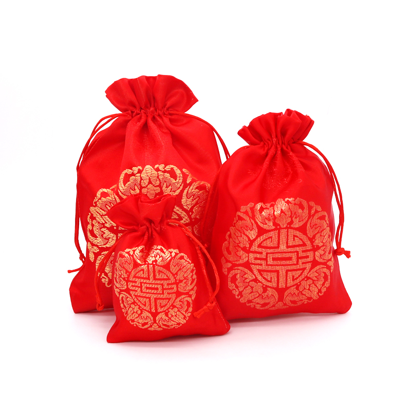 New Arrived 5Pcs 9x13cm Gift Satin Bag Jewelry Packaging Candy Wedding Party Goodie Packing Favors Wedding Supplies