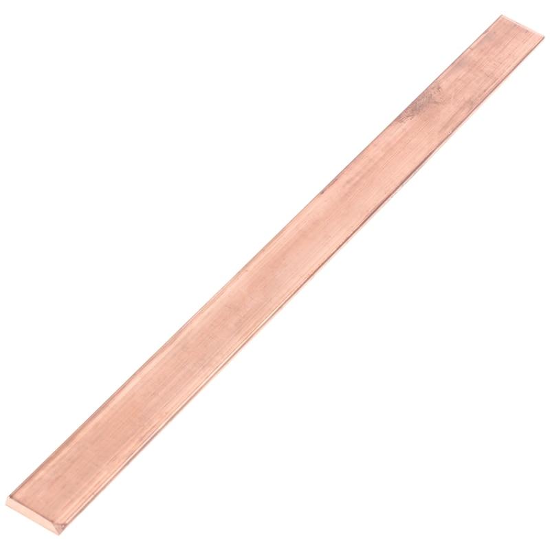 ABSF 99.6% T2 Purple Copper Cu Flat Bar Plate 3mm X 15mm X 250mm Metal Strip
