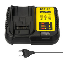 Portable Mini DCB112 Replacement Li-Ion Battery Charger for Dewalt 12V 14.4V 18V Lithium Cells Built-in 8 Type Protection(China)