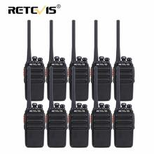 Rechargable walkie talkie pmr rádio 10 pces retevis rt24 rádio livre pmr446 0.5 w hotel/restaurante/armazém walkie talkies