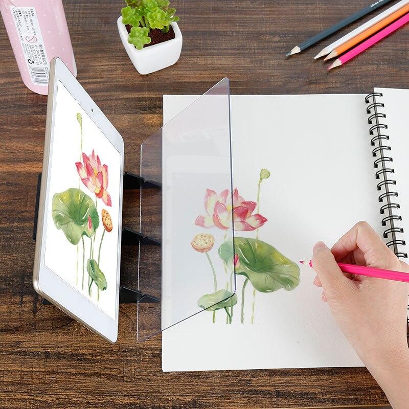 Criança assistente óptico tracing placa de desenho reflexão tracing board esboço pintura ferramentas projetor desenho kit presente para crianças