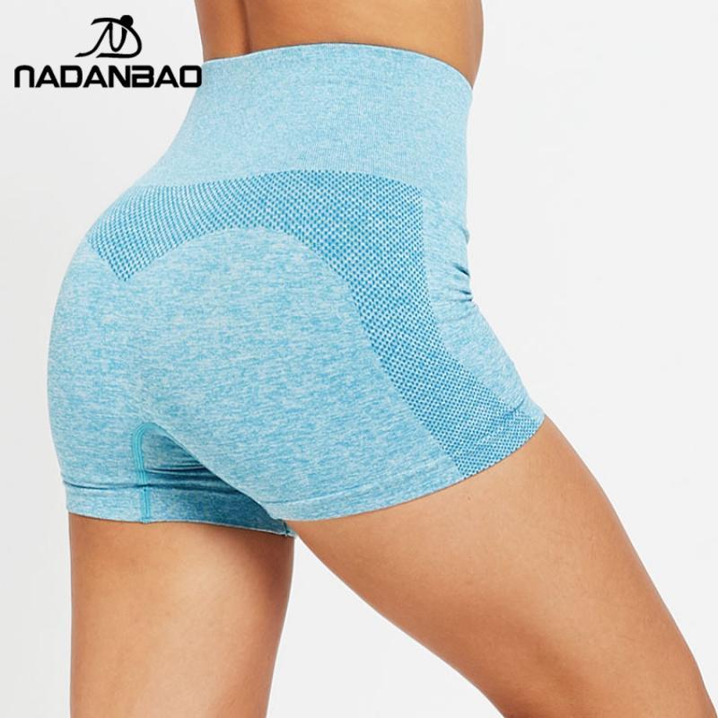 NADANBAO Fashion Short Women Leggings Fitness GYM Seamless Pants Sporting  High Waist Running Legins Sportwear For Workout Pants