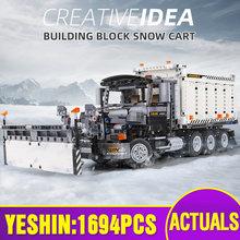 MOULD KING 13166 High-Tech Car Toys The MOC-29800 Snowplow Truck Assembly Car Model Building Blocks Bricks Kids Christmas Gift