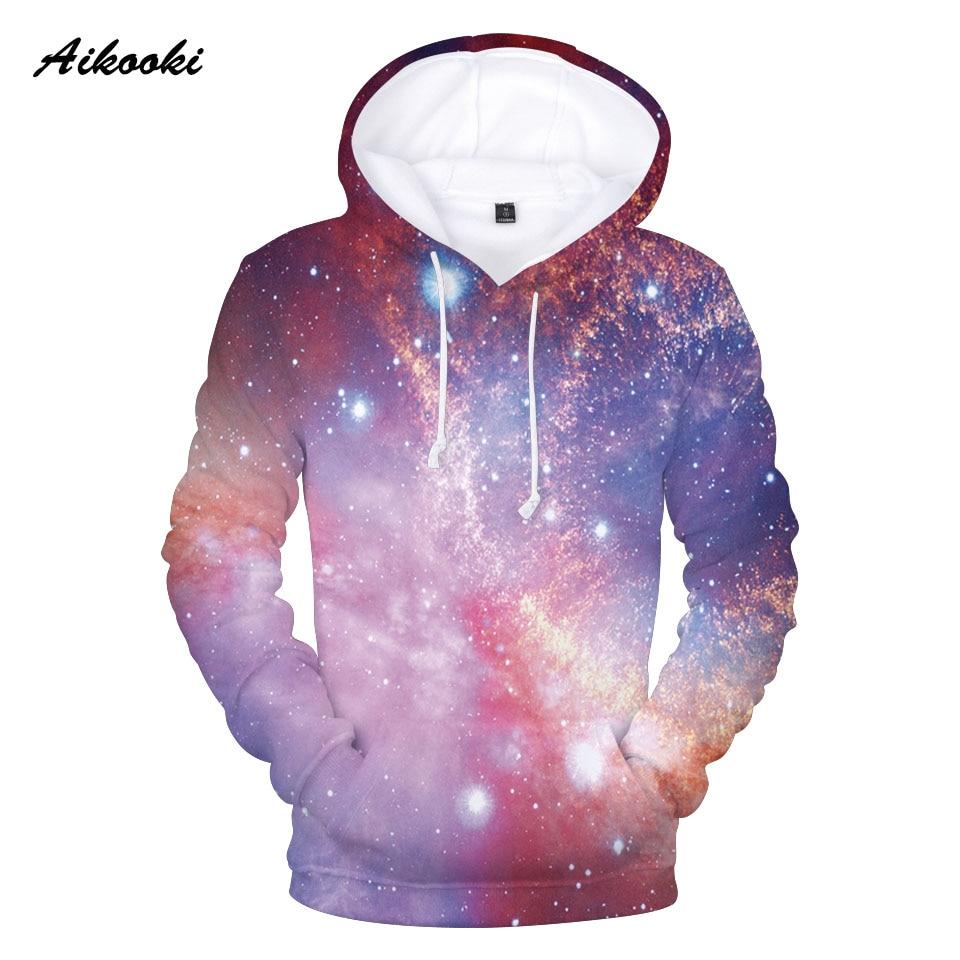 Aikooki Flame Sky 3D Hoodies Space Galaxy Hoodies Boys/girls/kids Sweatshirt Hooded Brand Clothing Hoody Print Nebula Jacket