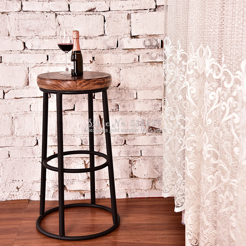 21%New Bar Chair Bar Furniture Commercial Furniture Solid Wood Creative Bar Stool Restaurant Bar Chair High Stool Coffee Chair