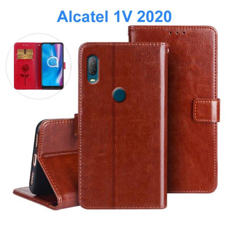 Para alcatel 1v 2020 case case case case phone caso do telefone 5007u 5007a especial kickstand couro do plutônio caso da alcatel 1v 2020 capa