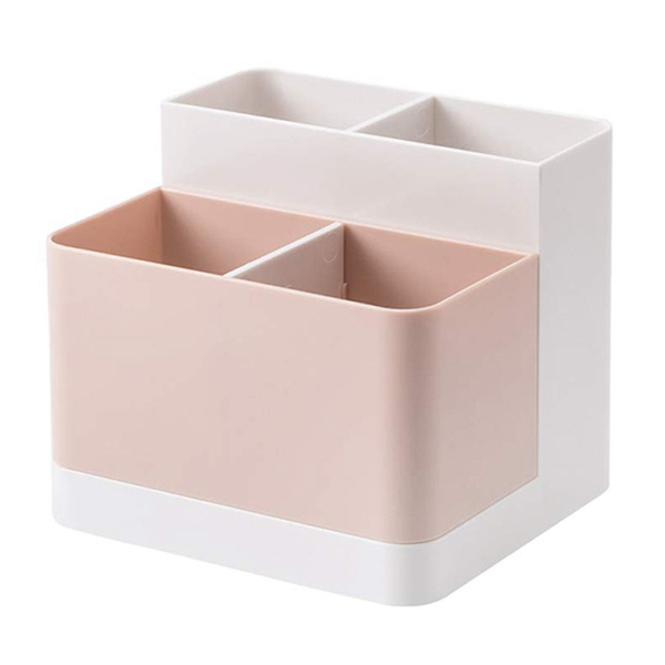 Desktop Storage Organizer Pencil Card Holder Box Container For Desk, Office Supplies, Vanity Table