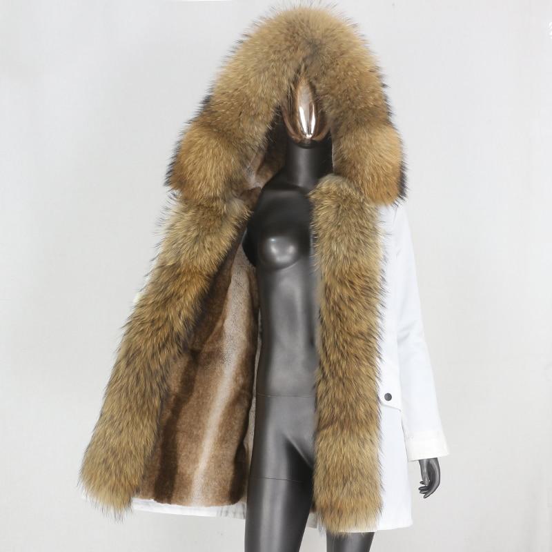 H6833ed29ff8c47b98e081c927250a8b7U CXFS 2021 New Long Waterproof Parka Winter Jacket Women Real Fur Coat Natural Raccoon Fur Hood Thick Warm Streetwear Removable