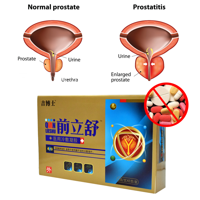 Urological Medicine Medical Prostatic Antibacterial Gel Urological Prostatitis Treament Plaster Herbal Gel Man Health Care