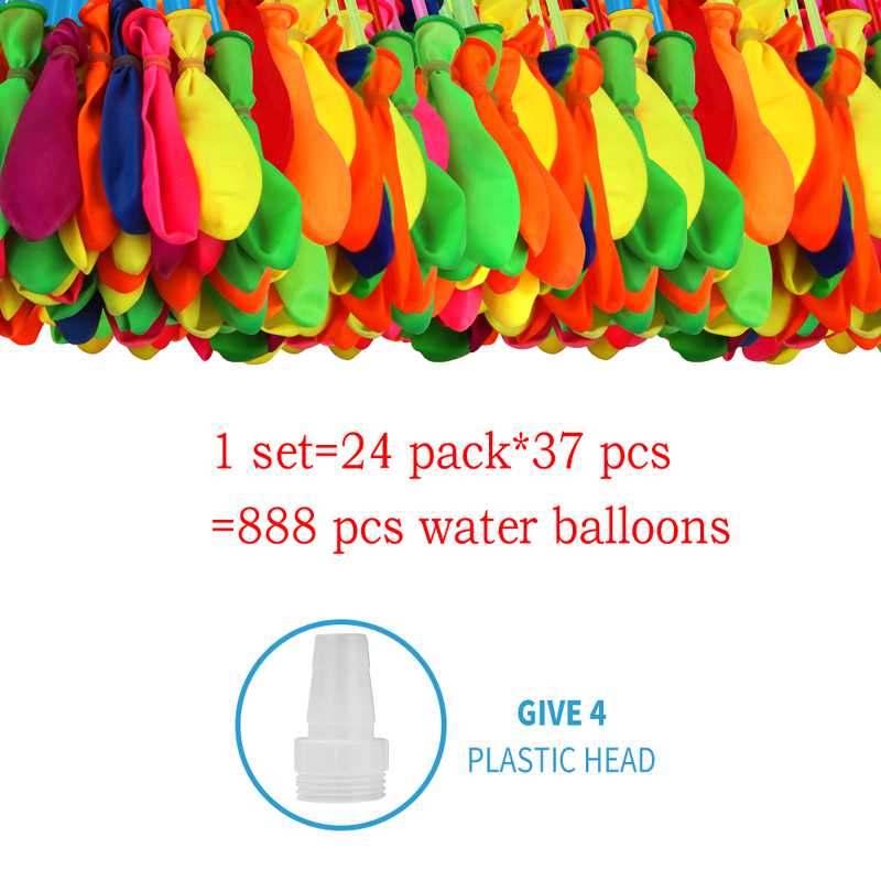888pcs Water Bombs Balloon Filling Magic Balloon Children Water War Game Supplies Kid Summer Outdoor Beach Toy Party Gift Toy