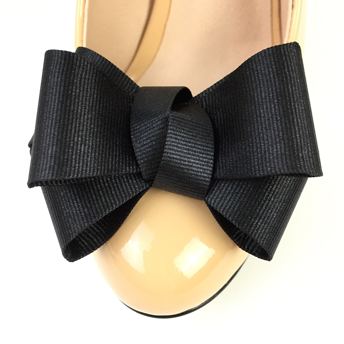 1 Pair Shoe Accessories Shoe Charms Elegant Fabric Bow For Women High Heels Shoes Bowknot Decoration Bow Black DIY Glue On