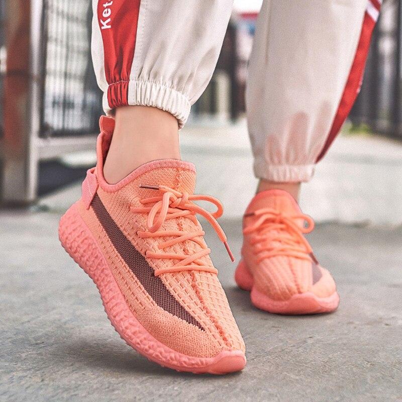 2020 Women Vulcanized  Woman Mesh Sneakers Female Lace Up Shoes Women's Round Toe Low Heels Ladies Comfortable Casual Footwear