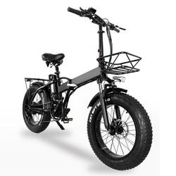 GW20 750W 20 Inch Electric Folding Bike, 4.0 Fat Tire, 48V Powerful Lithium Battery, Snow Bike, Power Assist Bicycle