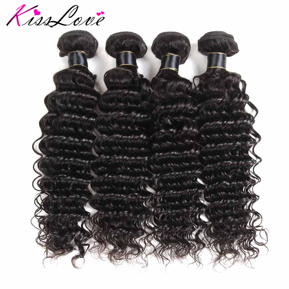 H6834662237a746aa920480178c5b19fca Kiss Love Brazilian Hair Deep Wave Bundles With Closure Human Hair Weave Bundles With Closure 3 Bundles With Lace Closure