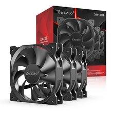 Zezzio ZA-120 3in1 Computer Case Cooling Fan Ultra-Quiet 12cm CPU  3PIN And Molex Port 120mm Radiator Fan