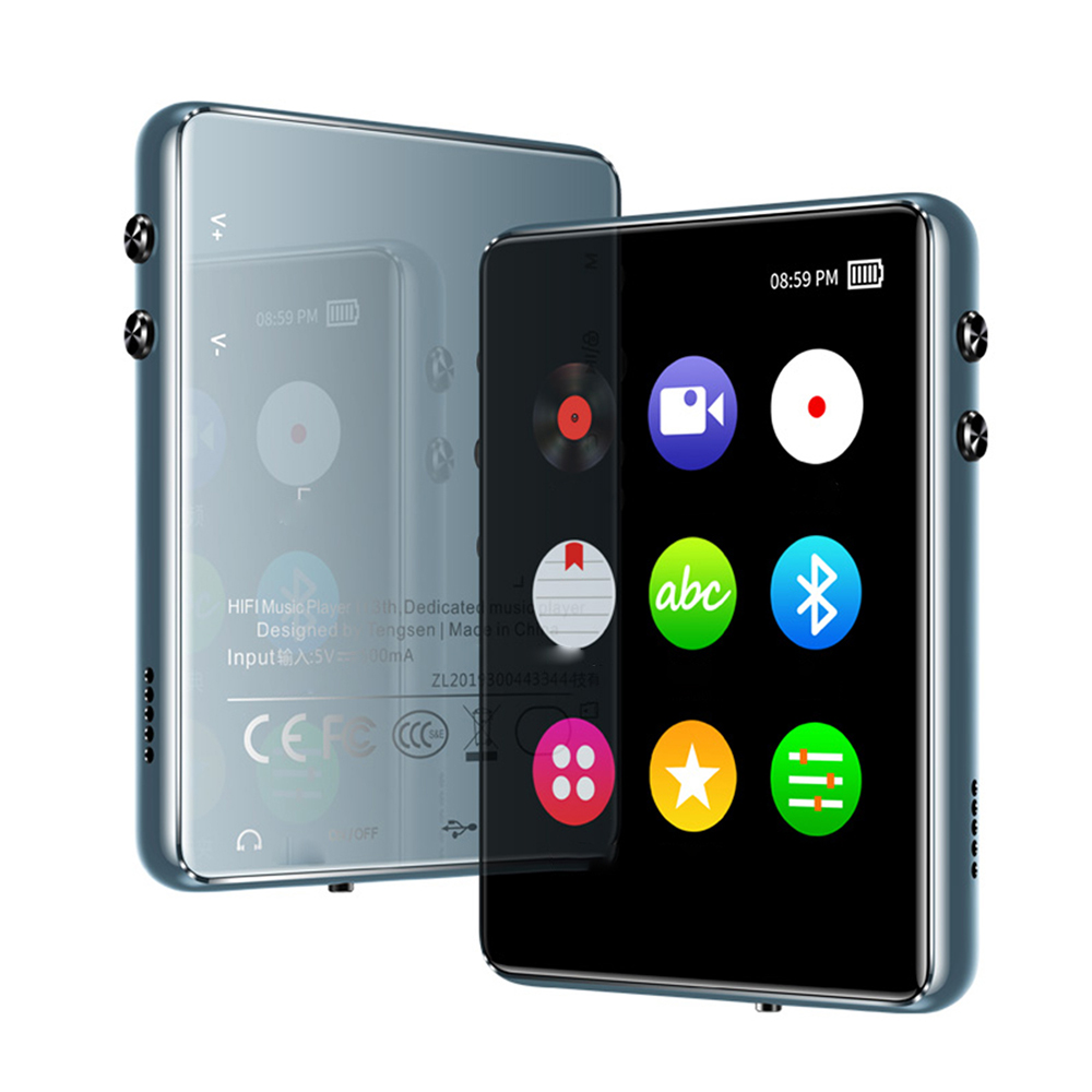 2.4 Inch Mini MP3 Player Full Touch Screen Bluetooth 8G/16G Lossless Sound Video Music Player Support FM Radio Recording Video