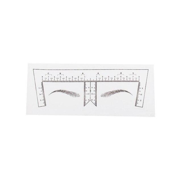 Microblading Stencils Eyebrow Ruler Sticker Eyebrow Shaping Stencils Microblading Supplies Disposable Adhesive Eyebrow Template 1