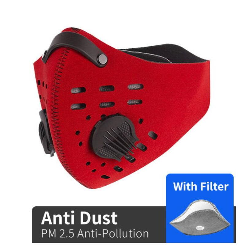 Dustproof Sport Face Mask PM 2.5 Anti-Pollution Anti Dust Bike Mouth Mask With Activated Carbon Running Cycling Mask