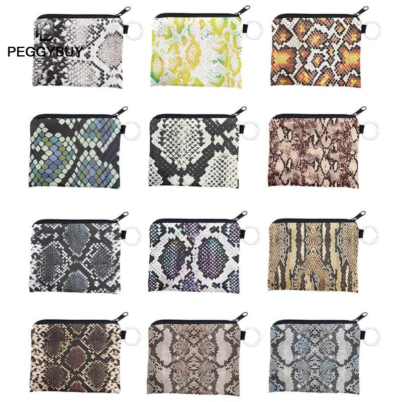 Digital Snake Printed Short Wallet Women Soft Card Bag Clutch Coin Purse Money Hand Bag Card Case Zipper Coin Pouch Clutch