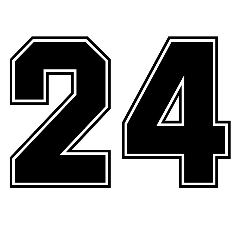 CK3233# Multicolor Number 24 Reflective Funny Car Sticker Vinyl Decal Waterproof Car Auto Stickers Silver/ Black For Bumper