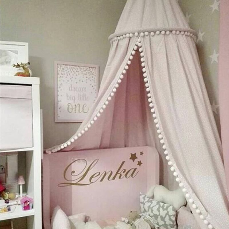Children's Room Decoration Wool Ball Dome Tent Baby Mosquito Net Bed Curtain
