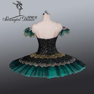 Image 4 - Tutú de Ballet profesional para adultos Tutús de ballet clásico para niñas, color negro y verde, nutcrackererbt8941