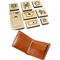 Japan Steel Blade Rule Dies Leather Bifold Wallet with Cion Case Leather Template Craft Punch Hand Tool Cut Knife Mould