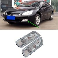 DWCX 2pcs Left & Right Front Bumper Fog Driving Lights Lamp Plastic Fit for Honda Accord 2003 2004 2005 2006 2007 WJ30014209