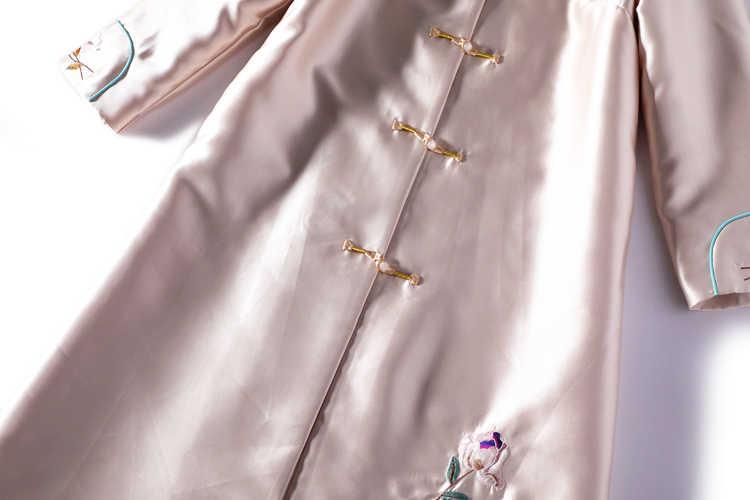 2020 النمط الصيني التقليدي زي فستان طويل بروكيد أنيقة مطرزة الوطنية الشعبية hanfu رداء الإناث زي