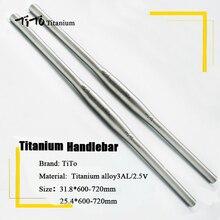Manillar plano de titanio para bicicleta de montaña, 31,8 o 25,4x600/620/640/660/680/700/720/mm, diseño personalizado, envío gratis