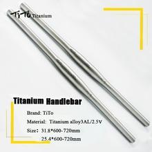 free shipping of MTB Titanium bike handlebar flat handlebar 31.8 or 25.4*600/620/640/660/680/700/720mm design custom logo