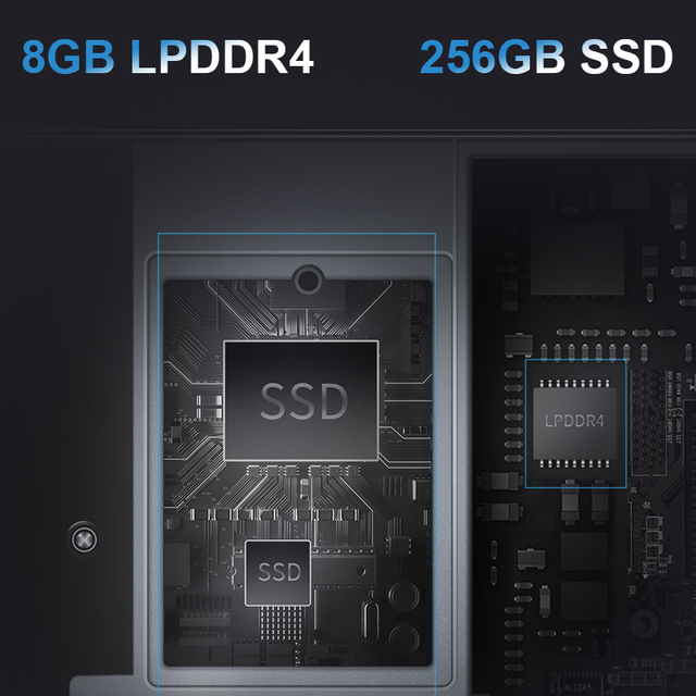 BMAX Y13 Laptop Intel N4120 13.3inch Quad Core 1920*1080 IPS Screen 8GB LPDDR4 RAM 256GB SSD Notebook windows10 Computer, Office & Security
