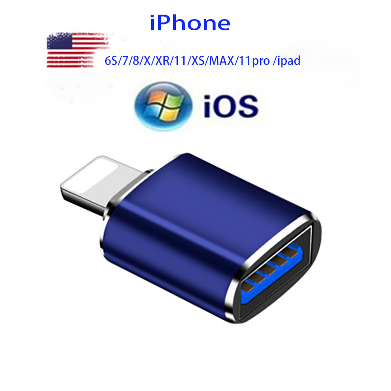 Lightning Apple adapter usb pen drive adapter is suitable for pendrive  Apple mobile phone  6S 7 8 X XR 11 XS MAX 11pro ipad