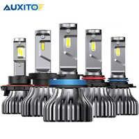 2PCS H7 LED H4 Fanless H11 H8 H9 9005/HB3 9006/HB4 9012 HIR2 9000Lm CSP Car led Headlight Bulbs Fog Lights White 6000K