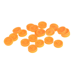 20Pcs/lot 2mm Hole Orange Plastic Belt Pulley For DIY RC Toy Car Airplane Accessories Wholesale