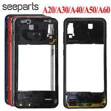 Carcasa para Samsung Galaxy A20, A30, A40, A50, A60, A205, A405, A305, A505, Marco medio, bisel, placa central de repuesto
