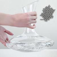 Bola de limpieza de botellas de vidrio, 500 Uds., 3mm, acero inoxidable, bolas de limpieza para decantador, herramientas de limpieza para el hogar, accesorios para herramientas de Bar