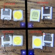1000 サムスン 2828 ledバックライトTT321A 1.5 ワットの 3 ワットとツェナー 3228 2828 クールホワイト液晶バックライトテレビtvアプリケーション