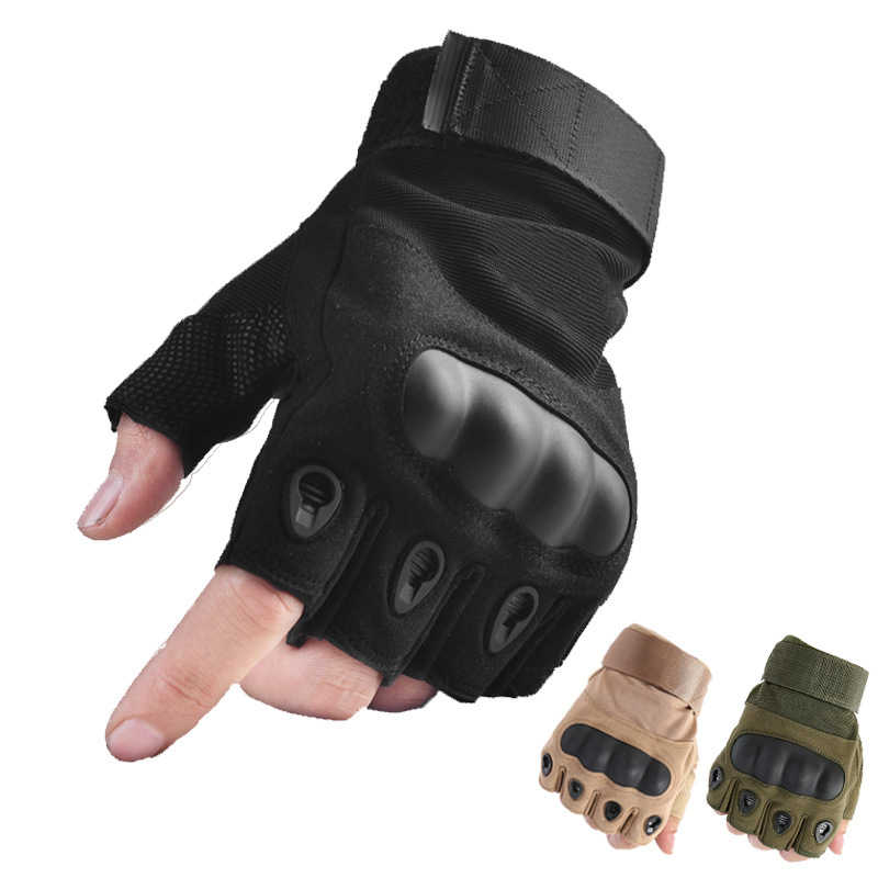 Half Finger Gloves for Motorcycle Motorbike Cycling Climbing Hunting Road Gloves