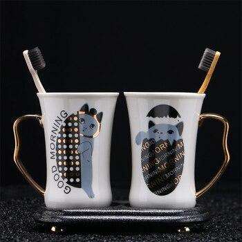 Quelques Tasses à Café   OUSSIRRO 2 Pièces Ensemble Couple Tasse En Céramique Café Baiser Tasse Créative Saint Valentin Mariage Cadeau D'anniversaire