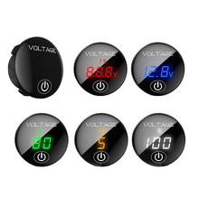 LED Voltmeter Battery-Capacity Motorcycle Display Led-Panel Digital Car DC with Touch-Switch