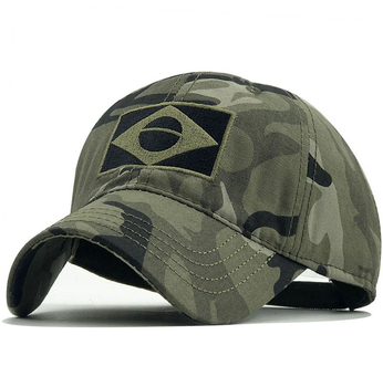New Tactical Baseball Cap Flag Sun Protection Snapback Male Fashion Casual Golf Airsoft Hat Brazil Summer Men image