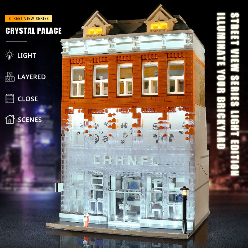 MOULD KING 16021 The Crystal Palace House Compatible With 16021