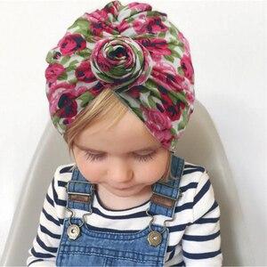 Image 4 - Turbante bebê meninas chapéus nó beanie bandana para crianças headwrap donut bonnet da criança do bebê chapéus fotografia adereços kidocheese