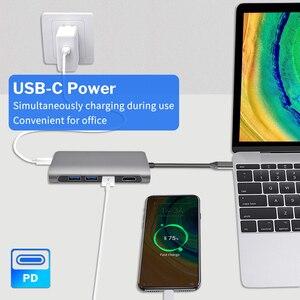 Deelife концентратор usb type c для разъема HDMI USB 3,1 Тип-C USB концентратор до RJ45 кард-ридер мульти usb 3,0 адаптер для MacBook Pro док-станция для USBC сплиттер