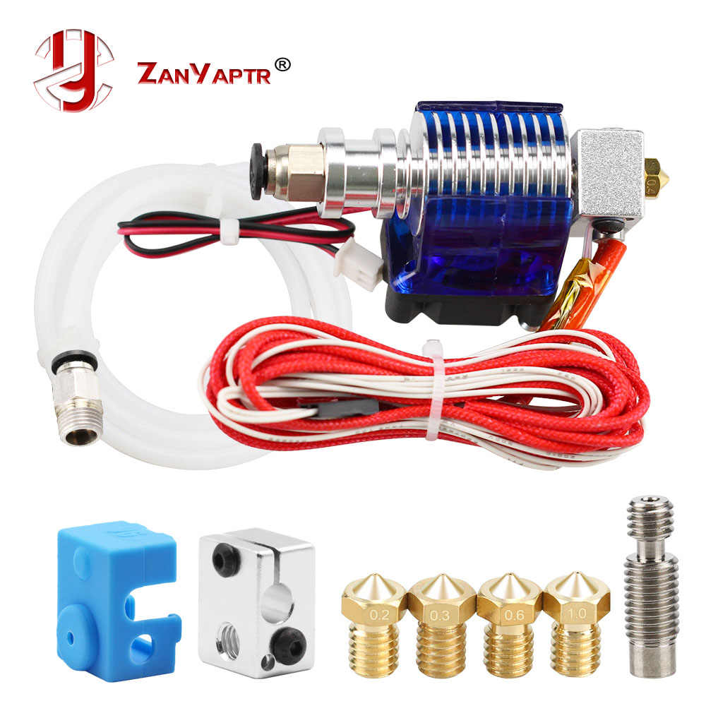 3D Printer J-Head Hotend Met Koelventilator Voor 1.75 Mm/3.0 Mm 3D V6 Bowden Filament wade Extruder 0.2 Mm/0.3 Mm/0.4 Mm Nozzle