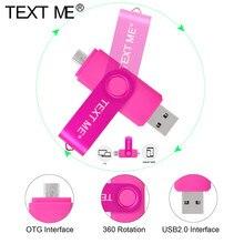 TEXT ME USB flash drive OTG high Speed stick 3 IN 1 Typ C USB 32 GB 16 GB 8 GB 4 GB 64 GB externe speicher doppel Anwendung Mi
