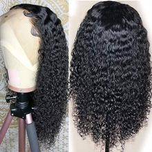 Black Long Curly Lace Wigs with Baby Hair for Women 13x4 kinky Curly Hair Synthetic Lace Front Wigs Heat Resistant Fiber 2016 hot sale heat resistant synthetic lace front wigs long curly natural black for women free shipping untied braided