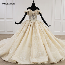 HTL1277 2020 new ball gown wedding dress sweetheart collar off the shoulder lace up back design wedding dress vestido de noiva