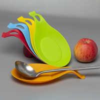 Alfombrilla para cuchara de silicona de calidad alimentaria Mantel Individual resistente al calor bandeja, cuchara, almohadilla de vidrio posavasos gran oferta herramienta de cocina 5z